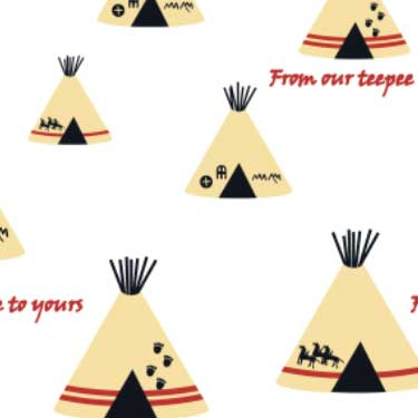 From our Teepee to yours  fabric design on Spoonflower .com by Demouse