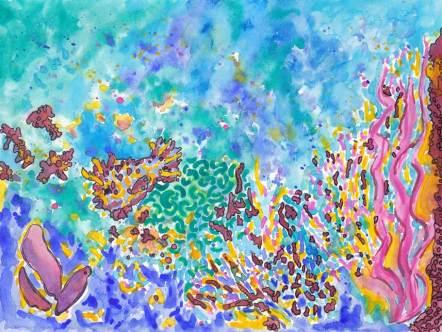 Soul Art 2015. 9 x 12 watercolor on paper. © Sheila Delgado 2015