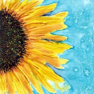 Day 7. 6 x 6 watercolor on yupo. © 2015 Sheila Delgado