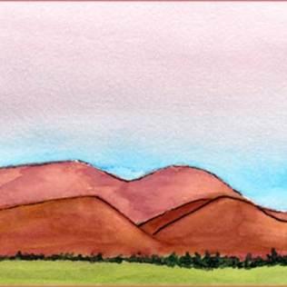 5 x 5 in. watercolor on 140 lb. cold pressed paper. © 2016 Sheila Delgado