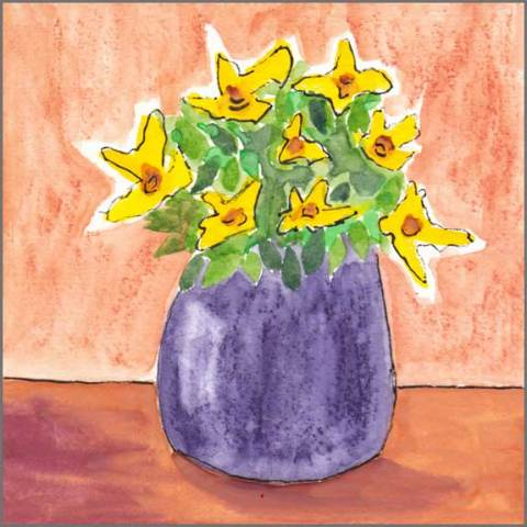 Remembering You. 5 x 5 watercolor on 140 lb. cold pressed paper. © 2017 Sheila Delgado