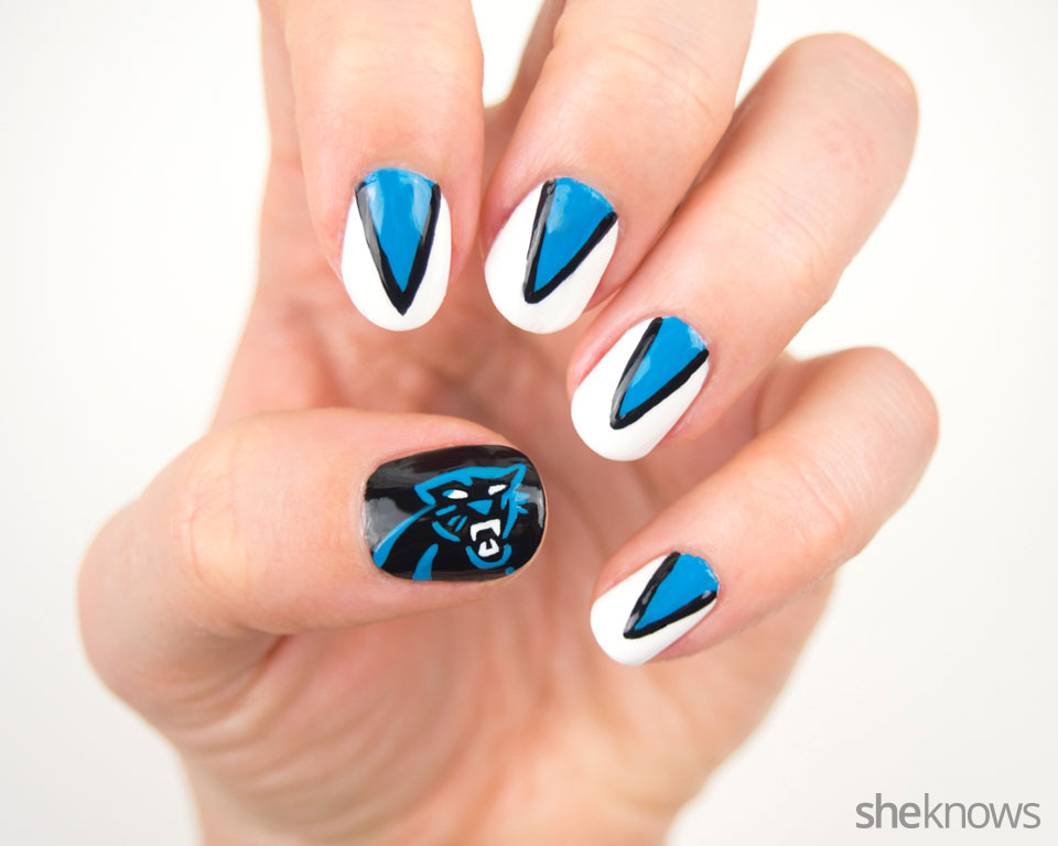 Carolina Panthers Nail Design For Ultimate Fans Sheknows