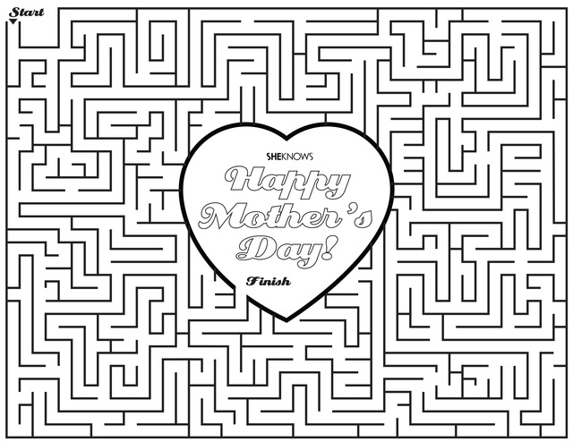 17 Printable Mother\u0027s Day Coloring Pages \u2013 SheKnows