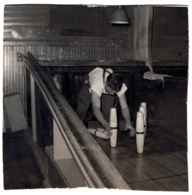 Don Emerson, Pin Boy, Shelburne Falls Bowling Alley