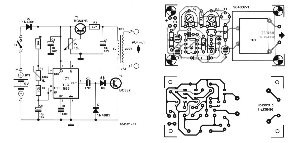 electrical mini project circuit
