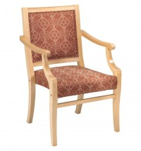 2780 Stacking Wood Arm Chair