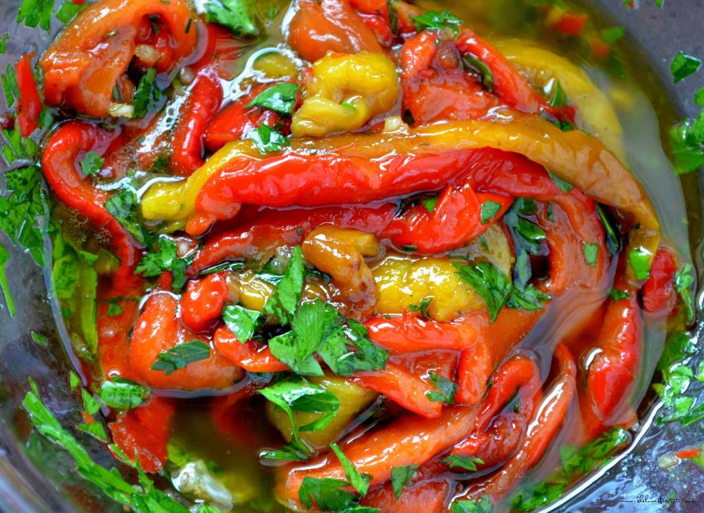... to enjoy that smoky natural sweetness, Marinated Roasted Bell Peppers
