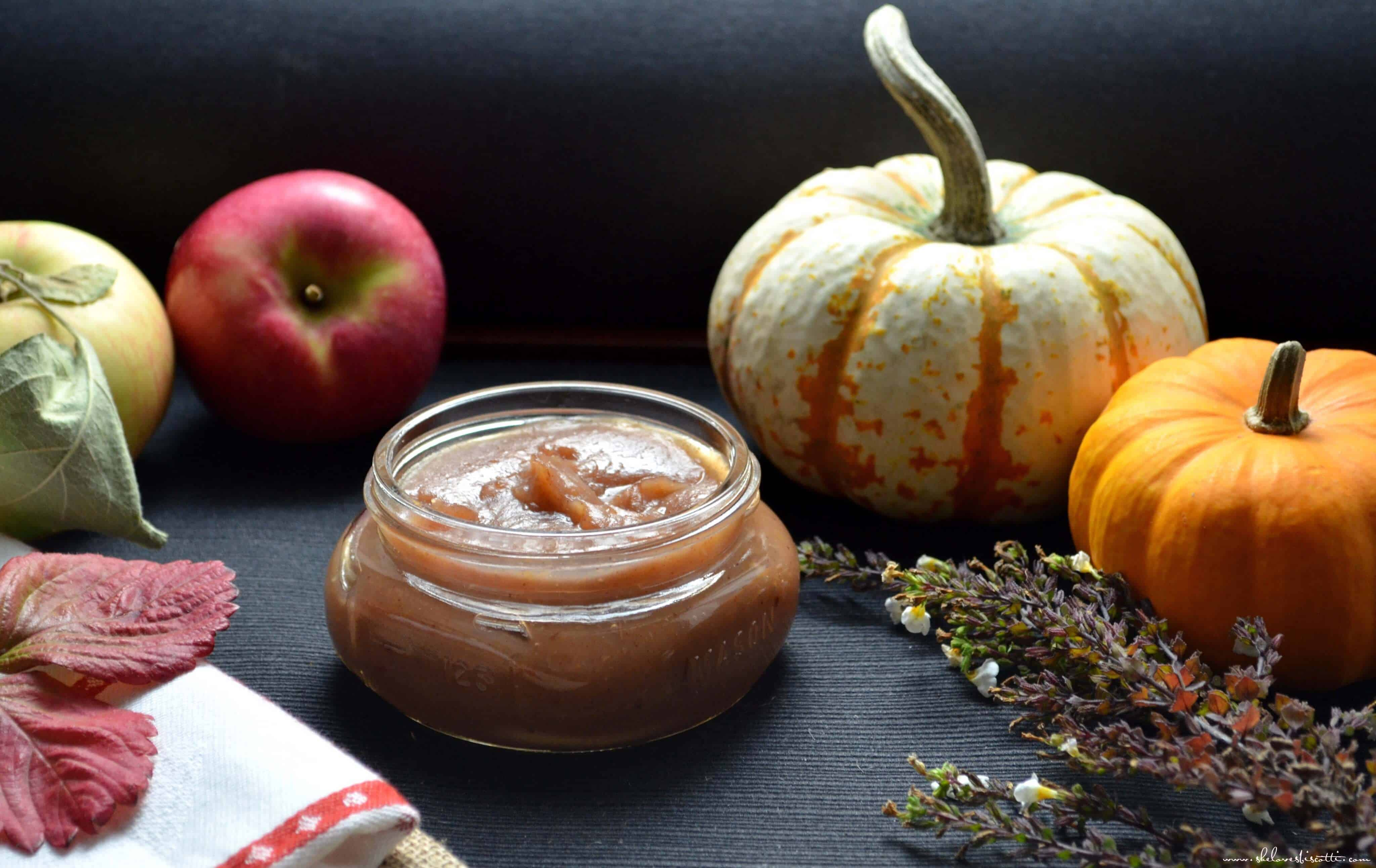... simple. I make this recipe for Easy Homemade Spiced Apple Butter. I am