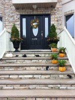Fall Front Porch Steps Decorating Ideas