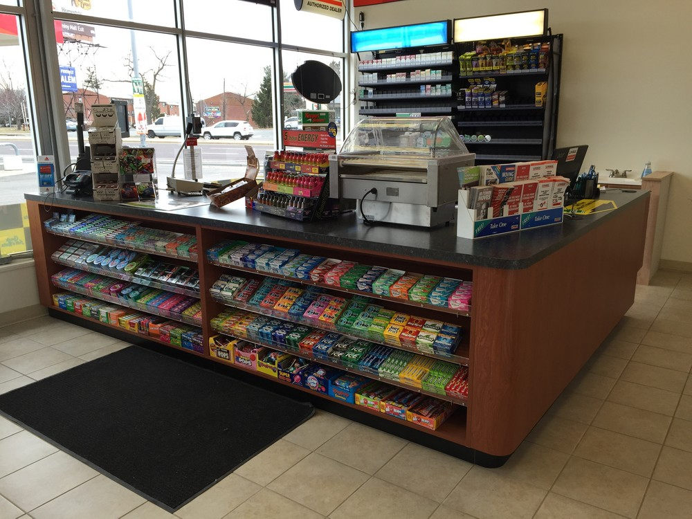 retail sale counter