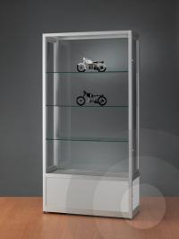 Dustproof Display Cabinet with Storage Cupboard