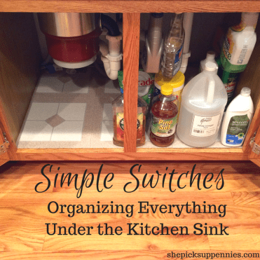 Easy Kitchen Organization Trick | shepicksuppennies.com