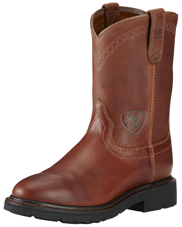 Ariat Sierra Cowboy Work Boots Round Toe Sheplers