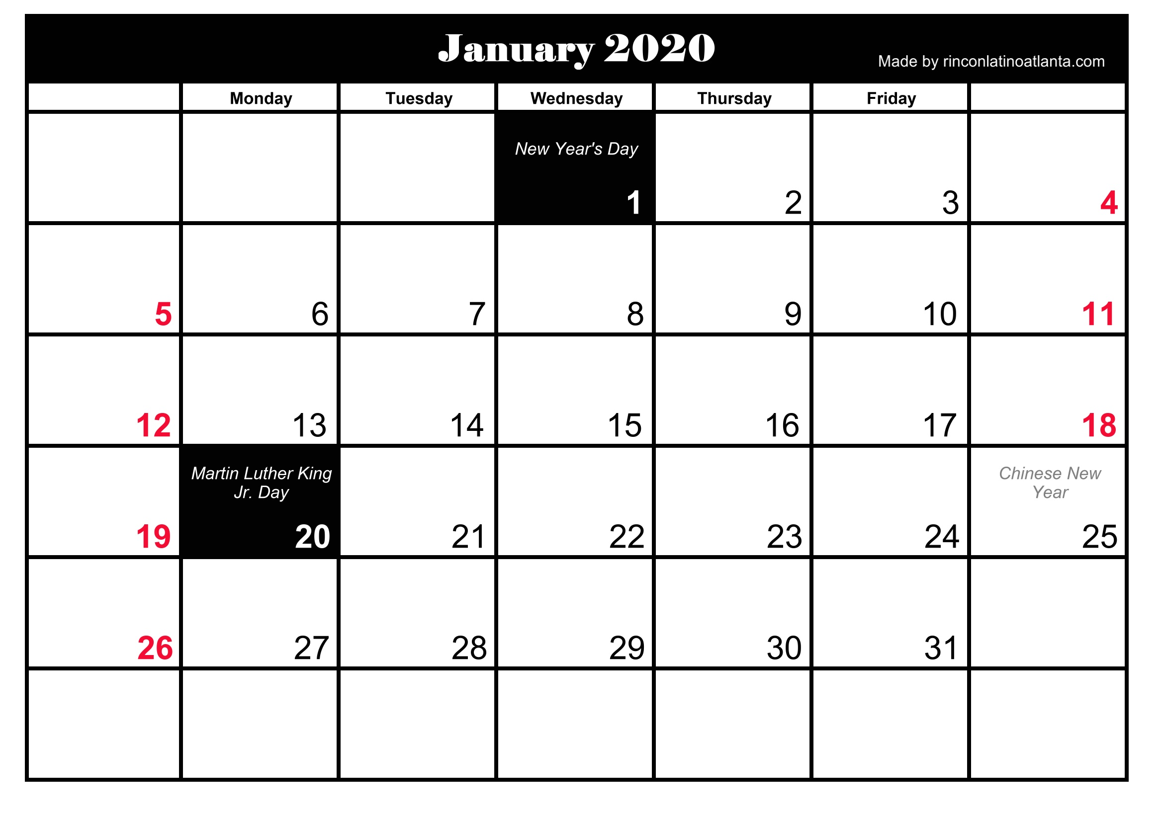 january 2019 calendar holidays india