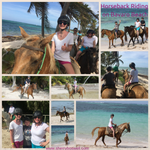 Horseback Riding at Bavaro Beach, Dominican Republic
