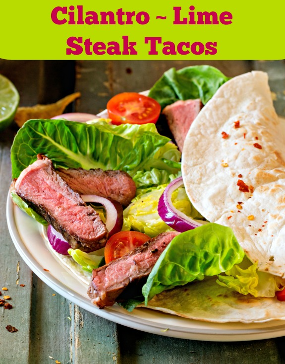 Cilantro Lime Steak Tacos | Simply Sherryl