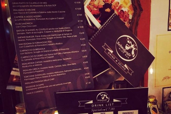 le nuove liste bar del Selmo Cafè di Mozzanica