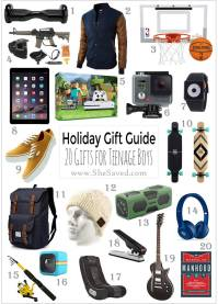 HOLIDAY GIFT GUIDE: Gifts for Teen Boys - SheSaved