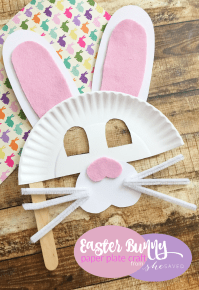 Easter Bunny Paper Plate Mask Craft - Easy Easter Craft