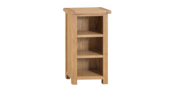 Oldbury Oak Narrow Bookcase Sussex