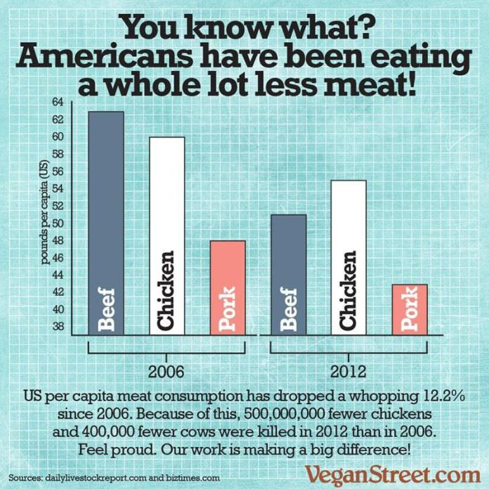reduction in meat consumption