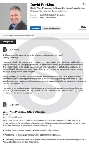 Resume Examples, Cover Letter Examples  LinkedIn Profiles - linkedin resume samples