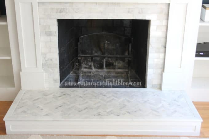 How To Tile Over A Brick Hearth Shine Your Light