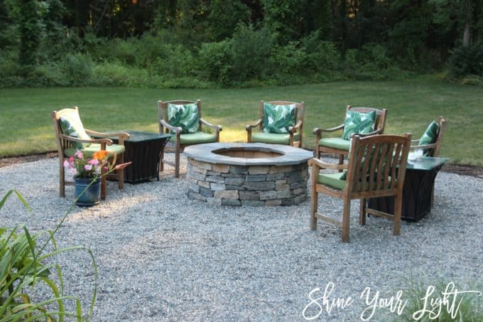 Installing A Pea Stone Patio Shine Your Light