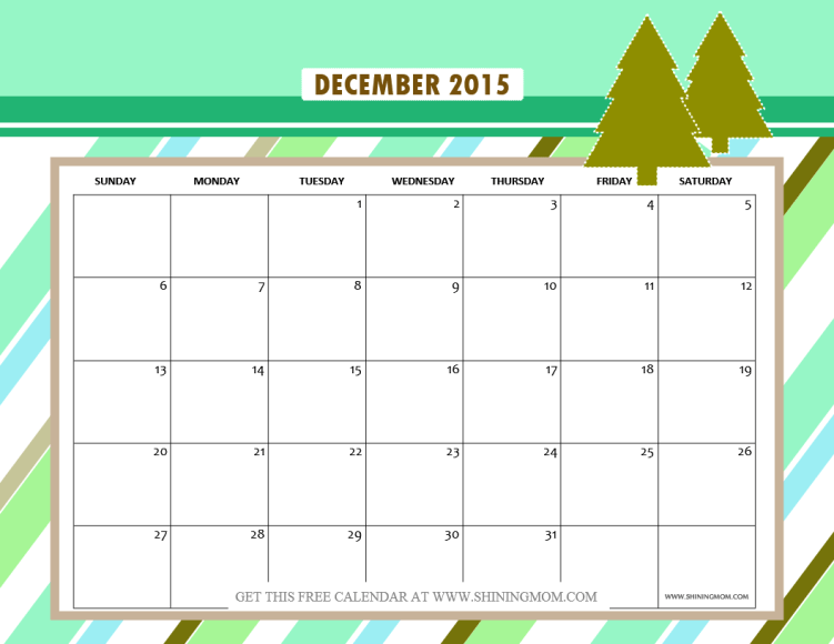 Christmas Calendar 2015 : December calendars christmas themed designs