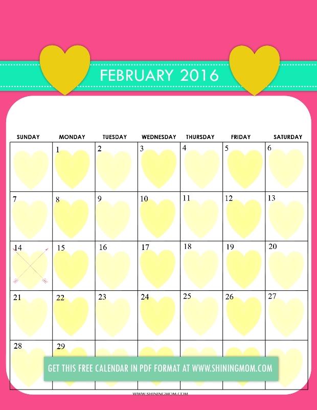 Free Printable Cute 2016 Calendars by Shining Mom!