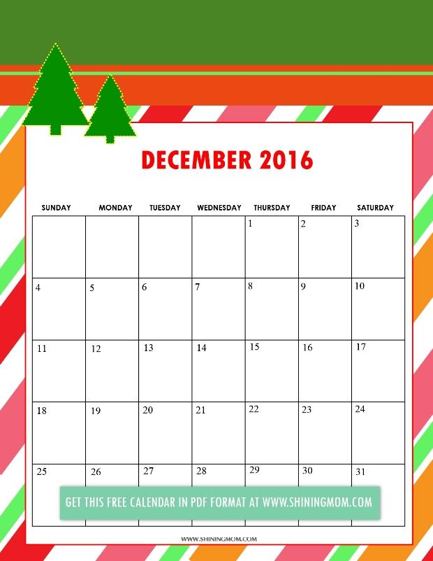 Free Printable: Cute 2016 Calendars by Shining Mom!
