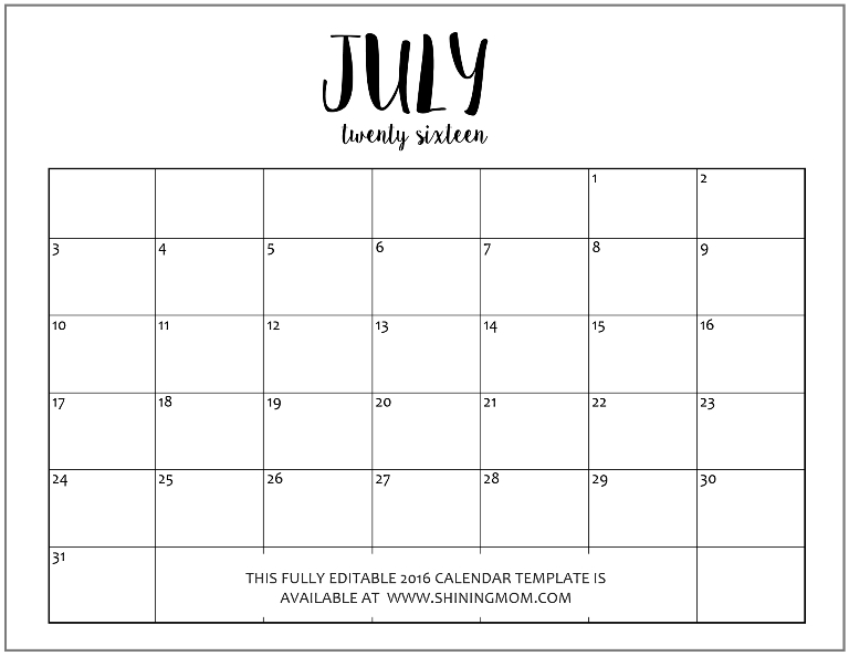 editable calendar template free - Teacheng - calendar template