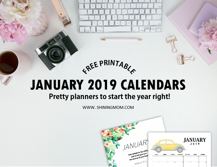 2019 year calendar printable free