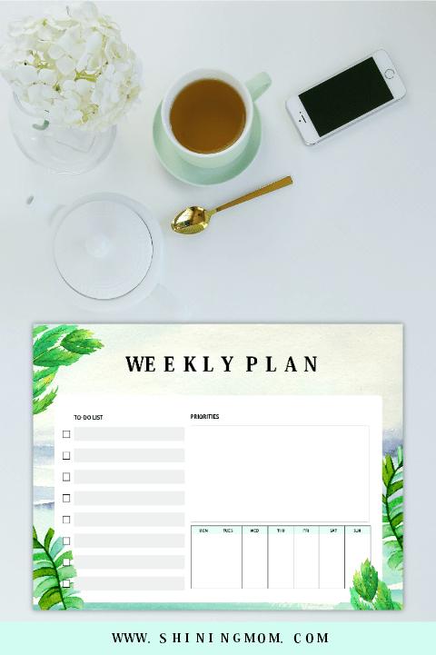 weekly planner 2019 printable
