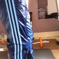 Shiny Blue Adidas Originals Pants