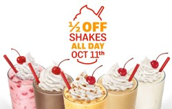 Riveting Shakes At Sonic October Shakes At Sonic October Ship Saves Sonic Half Price Shakes After 8 Dates Sonic Half Price Shakes October