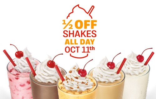 Medium Of Sonic Half Price Shakes