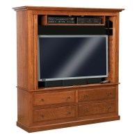 Contemporary Mission Enclosed TV Cabinet | Shipshewana ...