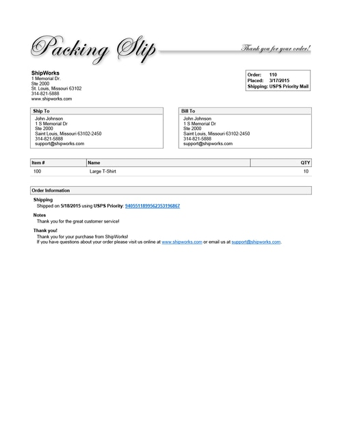 Shipping Options for Online Retailers - Shipworks - packing slips for shipping