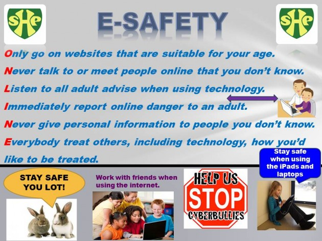 Winning poster launches E-Safety Charter at SHP Shireland Hall - poster on line