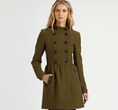 Purchase Burberry Brit Double-Breasted Wool-Blend coat from SAKS