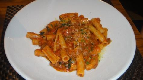 Rigatoncini (pasta), Piedmontese Meat Sauce, Parmesan