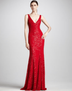 Buy Monique Lhuillier – Sleeveless Beaded Gown