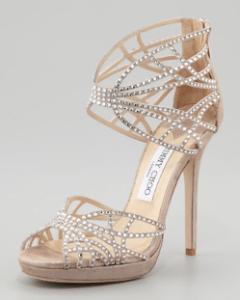 Jimmy Choo – Diva Crystal Cutout Sandal