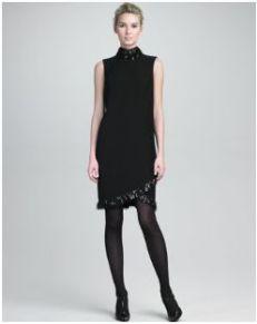 Armani Collezioni Pailette-Embellished Drape-Back Dress