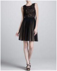 Buy J. Medel-Dress with Lace Bodice