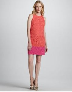 Buy Phoebe Couture Colorblack Lace Overlay Dress from Neiman Marcus