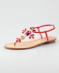 Buy Rene Caovilla Crystal-Thong Sandal from Neiman Marcus
