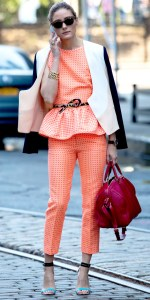 Olivia Palermo with Louis Vuitton SC bag designed by Sophia Coppola by WhoWhatWear