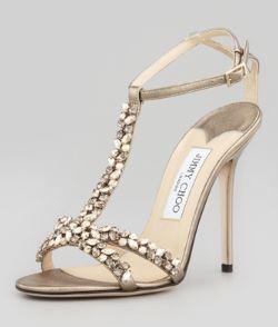 Jimmy Choo – Tayn Crystal T-Strap Sandal
